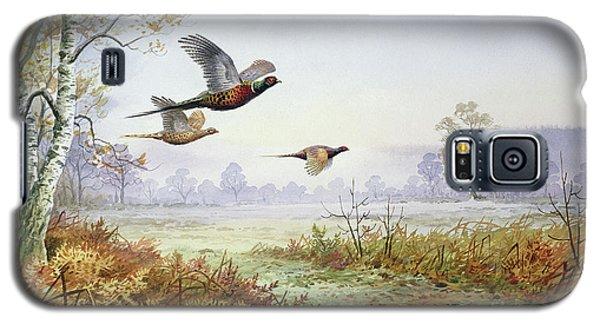 Pheasants In Flight  Galaxy S5 Case by Carl Donner