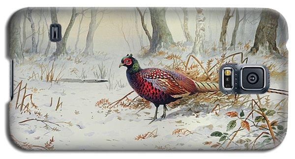 Pheasants In Snow Galaxy S5 Case