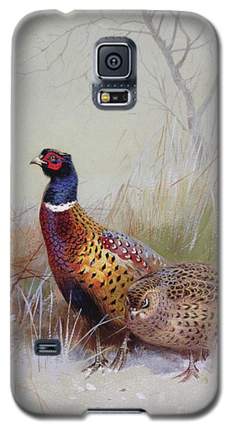 Pheasants In The Snow Galaxy S5 Case