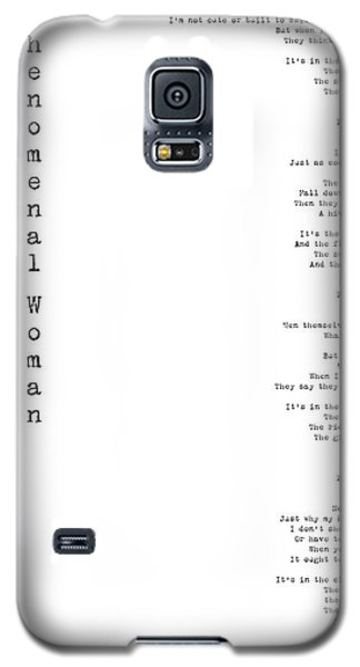 Phenomenal Woman By Maya Angelou - Feminism Poetry Galaxy S5 Case