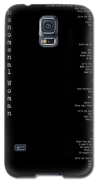 Phenomenal Woman By Maya Angelou - Feminist Poetry Galaxy S5 Case