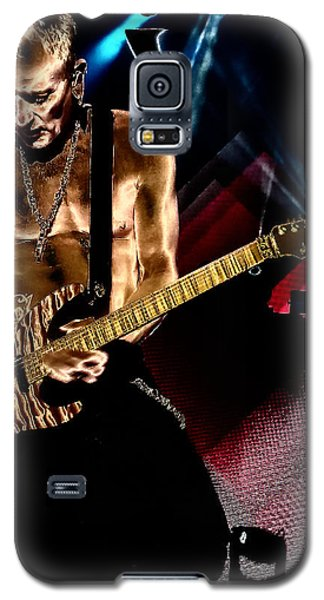Phil Collen Of Def Leppard 3 Galaxy S5 Case by David Patterson