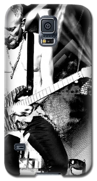 Phil Collen Of Def Leppard 4 Galaxy S5 Case by David Patterson