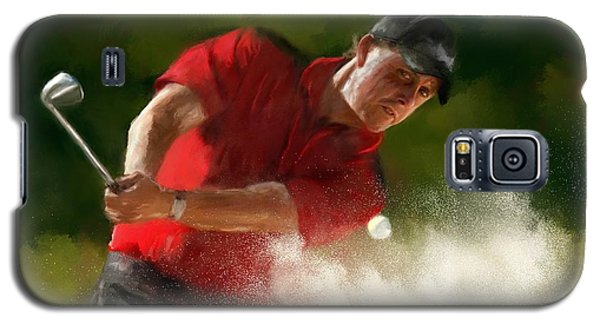 Phil Mickelson - Lefty In Action Galaxy S5 Case by Colleen Taylor
