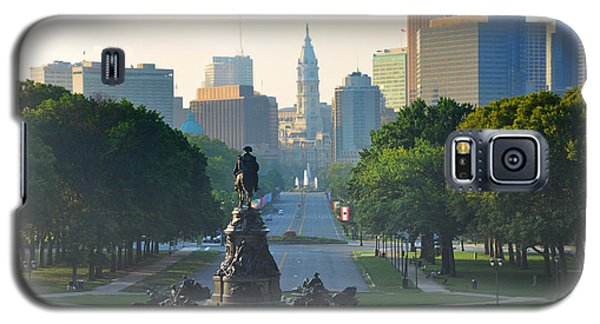 Philadelphia Benjamin Franklin Parkway Galaxy S5 Case by Bill Cannon
