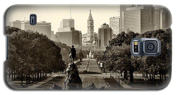 Philadelphia Benjamin Franklin Parkway In Sepia Galaxy S5 Case