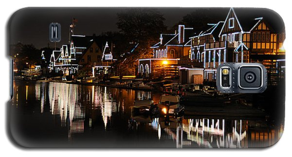 Philadelphia Boathouse Row At Night Galaxy S5 Case