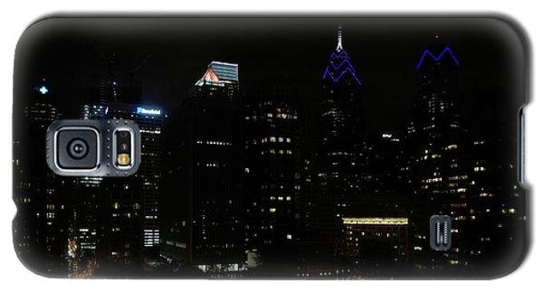 Philadelphia Night Lights Galaxy S5 Case by Rona Black