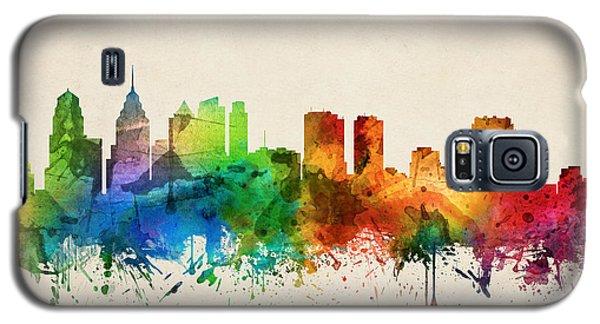 Philadelphia Pennsylvania Skyline 05 Galaxy S5 Case by Aged Pixel