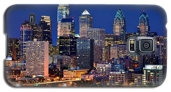 Philadelphia Skyline At Night Galaxy S5 Case by Jon Holiday