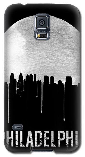 Philadelphia Skyline Black Galaxy S5 Case by Naxart Studio