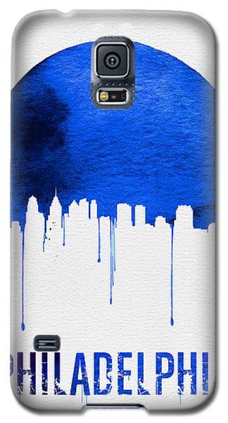 Philadelphia Skyline Blue Galaxy S5 Case by Naxart Studio