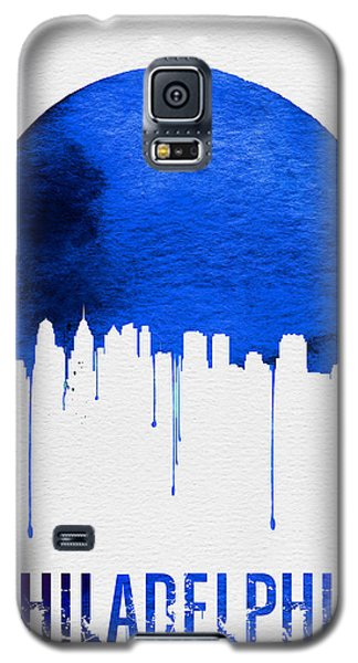Philadelphia Skyline Blue Galaxy S5 Case