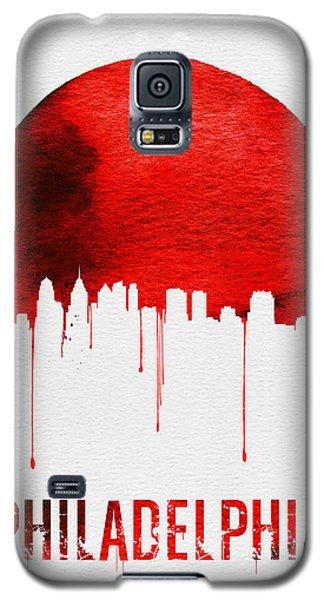 Philadelphia Skyline Redskyline Red Galaxy S5 Case by Naxart Studio