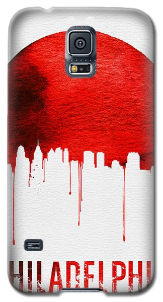Philadelphia Skyline Redskyline Red Galaxy S5 Case