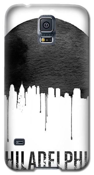 Philadelphia Skyline White Galaxy S5 Case by Naxart Studio