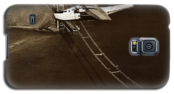 Philippine Clipper A Pan Am Clipper Over The Golden Gate Bridge  1935 Galaxy S5 Case by California Views Mr Pat Hathaway Archives
