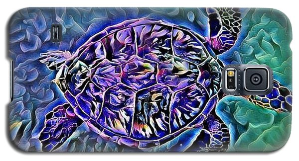 Galaxy S5 Case featuring the digital art Phillis The Turtle by Erika Swartzkopf