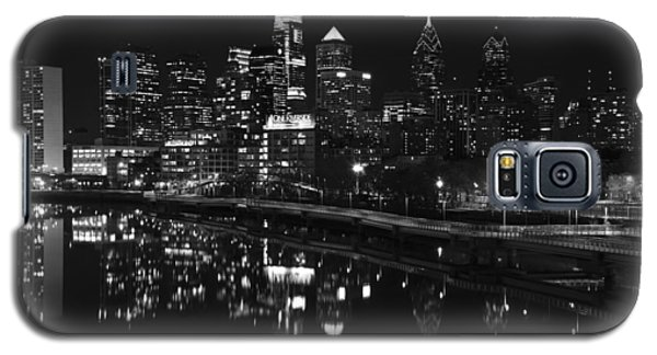 Philly And The Schuylkill Bw Galaxy S5 Case by Jennifer Ancker