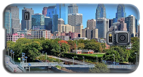 Galaxy S5 Case featuring the photograph Philly With Walking Trail by Frozen in Time Fine Art Photography