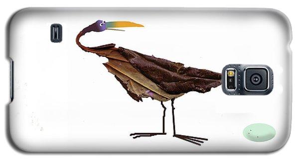 Galaxy S5 Case featuring the digital art Philosophical Bird by Graham Harrop
