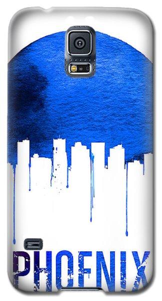 Phoenix Skyline Blue Galaxy S5 Case by Naxart Studio