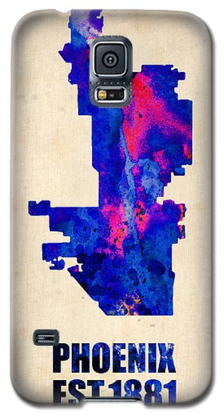 Phoenix Galaxy S5 Case - Phoenix Watercolor Map by Naxart Studio