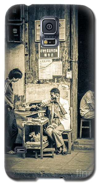 Galaxy S5 Case featuring the photograph Phonecall On Chinese Street by Heiko Koehrer-Wagner