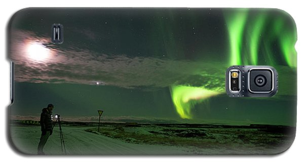 Galaxy S5 Case featuring the photograph Photographer Under The Northern Light by Dubi Roman