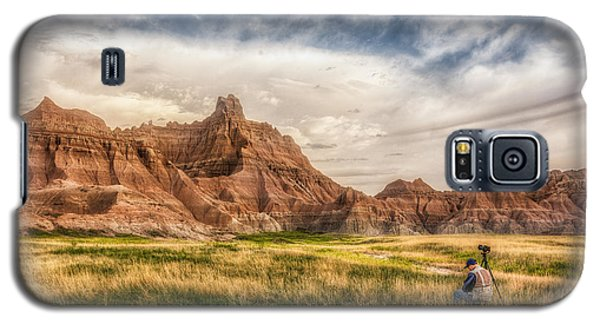 Photographer Waiting For The Badlands Light Galaxy S5 Case