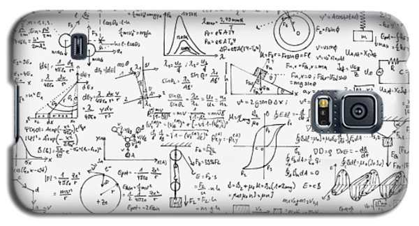 Galaxy S5 Case featuring the drawing Physics Forms by Gina Dsgn