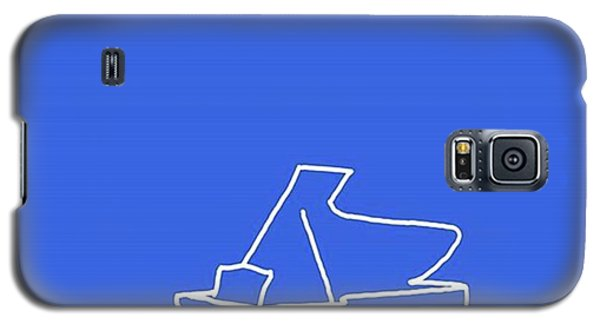 Piano In Blue Prints Available At Galaxy S5 Case