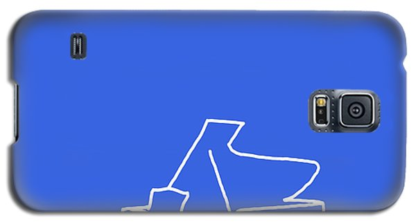 Galaxy S5 Case featuring the digital art Piano In Blue by Jazz DaBri