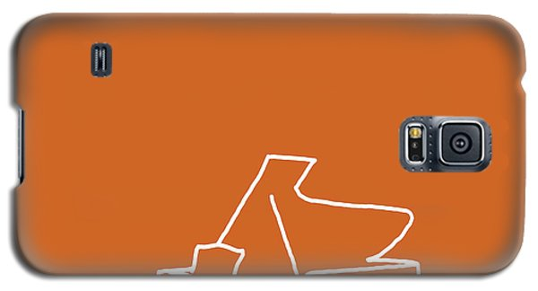 Galaxy S5 Case featuring the digital art Piano In Orange by Jazz DaBri