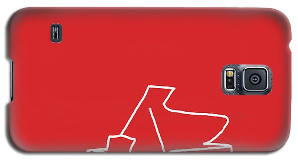Galaxy S5 Case featuring the digital art Piano In Red by Jazz DaBri