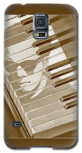 Piano Man In Sepia Galaxy S5 Case by J L Meadows