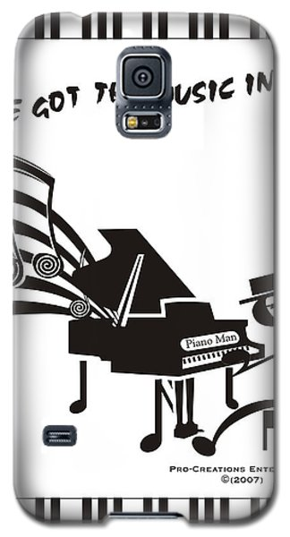 Piano Man Galaxy S5 Case