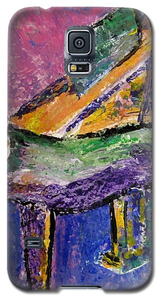 Piano Purple - Cropped Galaxy S5 Case
