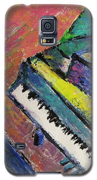 Piano With Yellow Galaxy S5 Case