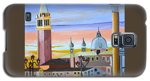 Galaxy S5 Case featuring the painting Piazza San Marco by Donna Blossom