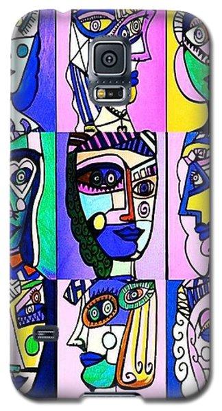 Picasso Blue Women Galaxy S5 Case