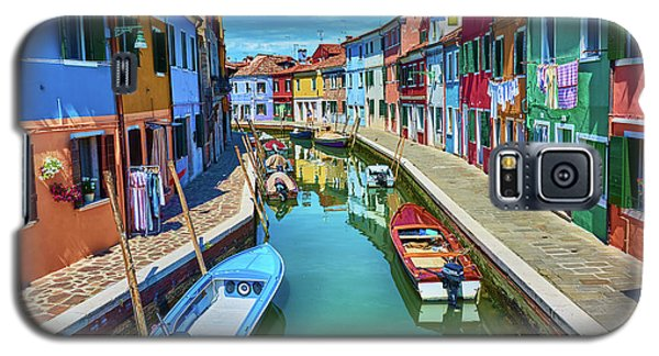 Picturesque Buildings And Boats In Burano Galaxy S5 Case