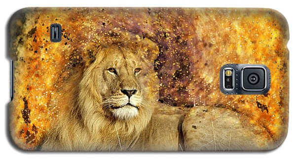 Galaxy S5 Case featuring the photograph Pieces Of A Lion by Ericamaxine Price