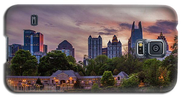 Galaxy S5 Case featuring the photograph Piedmont Park Midtown Atlanta Sunset Art by Reid Callaway