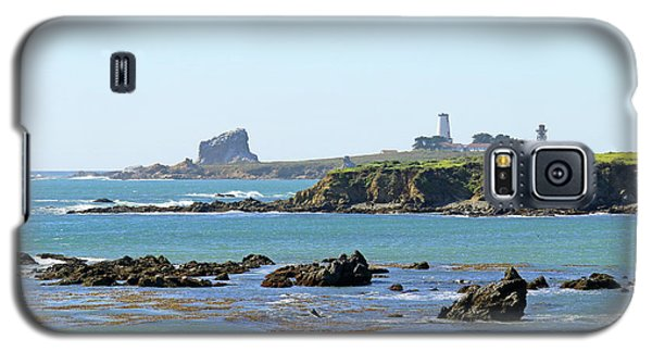 Galaxy S5 Case featuring the photograph Piedras Blancas Lighthouse by Art Block Collections