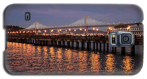 Pier 7 And Bay Bridge Lights At Sunset Galaxy S5 Case