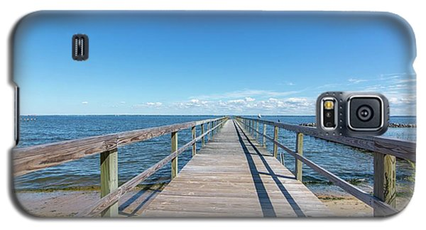 Pier At Highland Beach Galaxy S5 Case by Charles Kraus