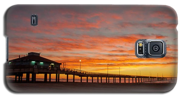 Pier At Sunrise Port Aransas Tx Galaxy S5 Case