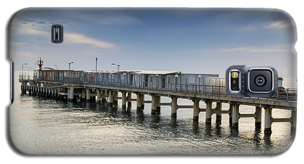 Galaxy S5 Case featuring the photograph Pier At Sunset by John Williams
