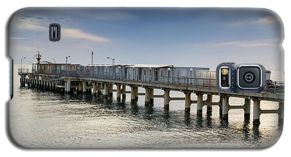 Pier At Sunset Galaxy S5 Case by John Williams